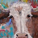 Hereford Cow Original Painting by Gray Artus