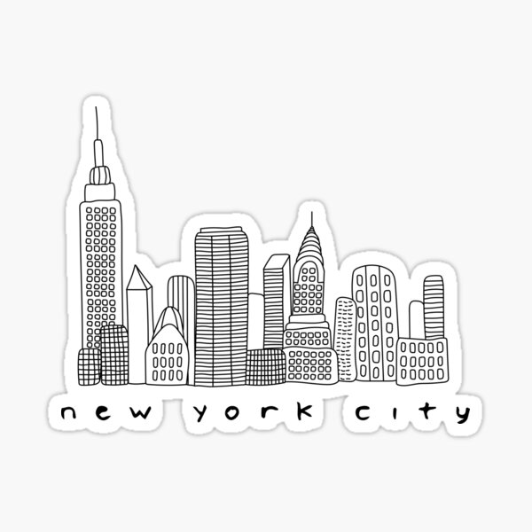 Skyline von New York City Sticker