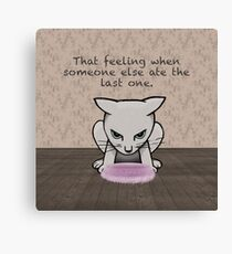 That feeling when - displeased cat Canvas Print