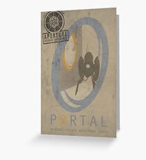 Portal Game Poster Greeting Card