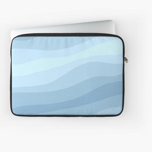 Cute Aesthetic Light Blue Ocean Pattern Laptop Sleeve