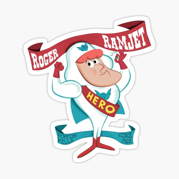 Roger Ramjet - hero of our nation Sticker