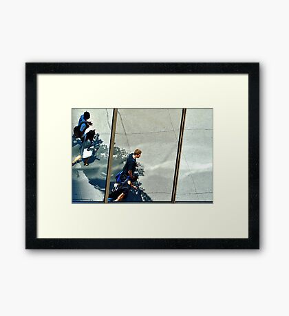 Montreal Reflections X Framed Print