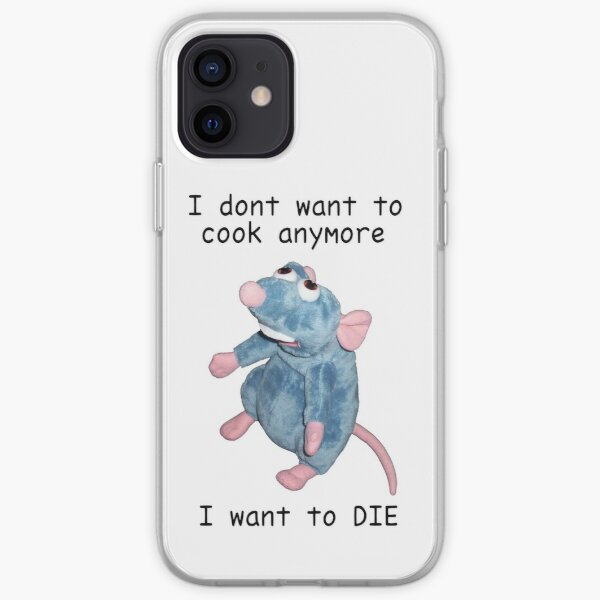 Remy doesn't want to cook anymore :( iPhone Soft Case