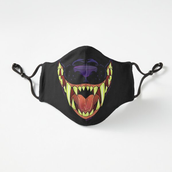 Black Cat Mask Fitted 3-Layer