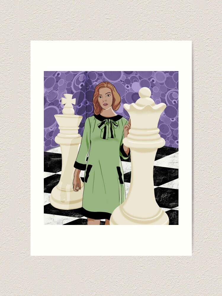 Alternate view of Queen's Gambit Art Print