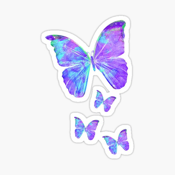 Purple Butterflies by Jan Marvin Sticker