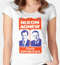 NIXON/AGNEW 1968 Women's Fitted Scoop T-Shirt