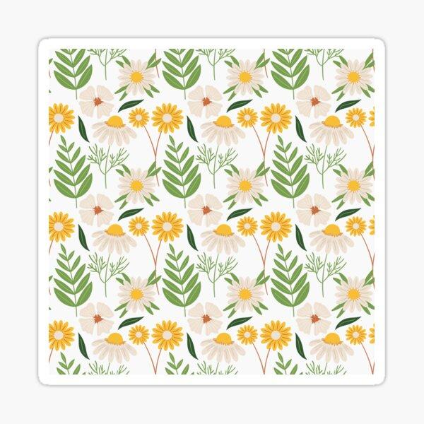Spring daisy flowers pattern Sticker