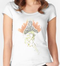 grown ups Women's Fitted Scoop T-Shirt