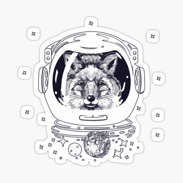 Space Foxes In Spacesuit Sticker