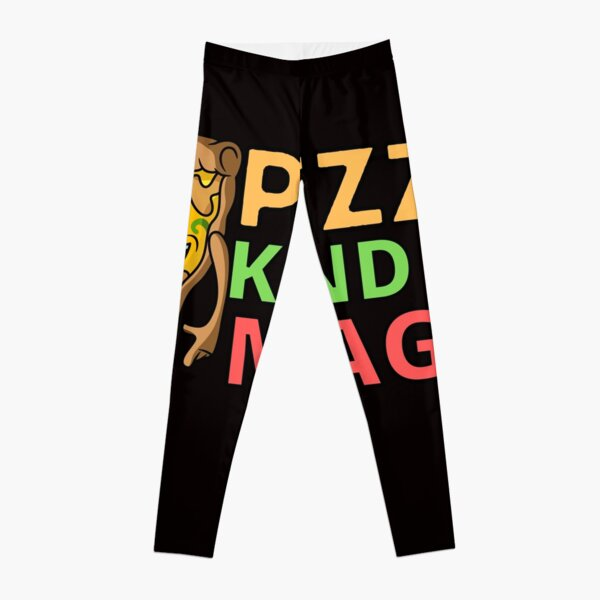 Psychedelic Print Leggings Adult Toddler Kids Matching Leggings Colorful Trendy Leggings Pizza Slice Pop Art Leggings Fashion Leggings.