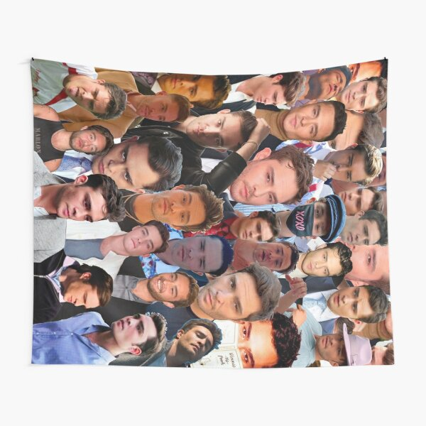 Ed Westwick Photo Collage Tapestry