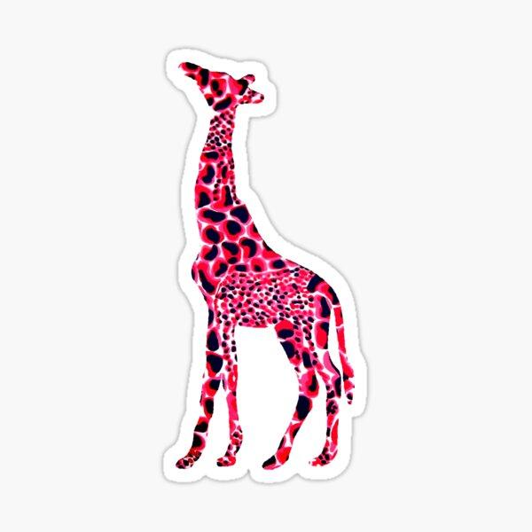 Red Giraffe Sticker