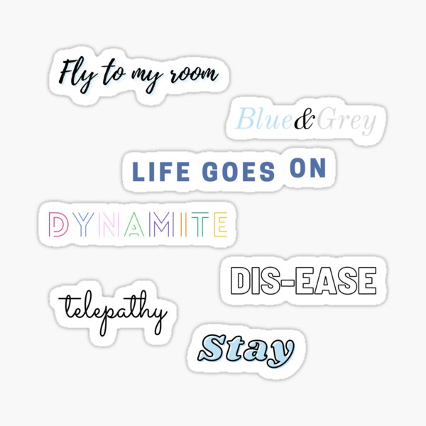 Pistes d'album BTS Be Sticker
