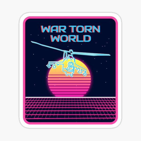 War Torn World MI-24 Sticker (No Bottom Text) Sticker