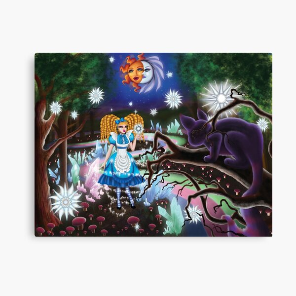 Alice In Wonderland: Stars In The Forest Canvas Print