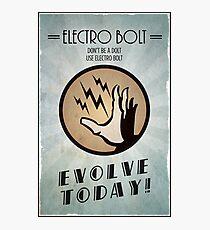 Bioshock Plasmid Poster Electro Bolt Photographic Print