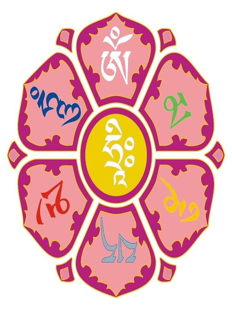 """om mani padme huṃ hriḥ"" by leilanidav"
