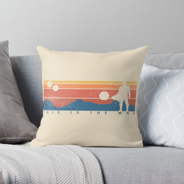 This is the Way Retro Throw Pillow