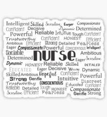 Nurse Best Adjectives Sticker