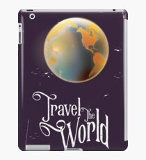 Travel the World Vintage earth poster iPad Case/Skin