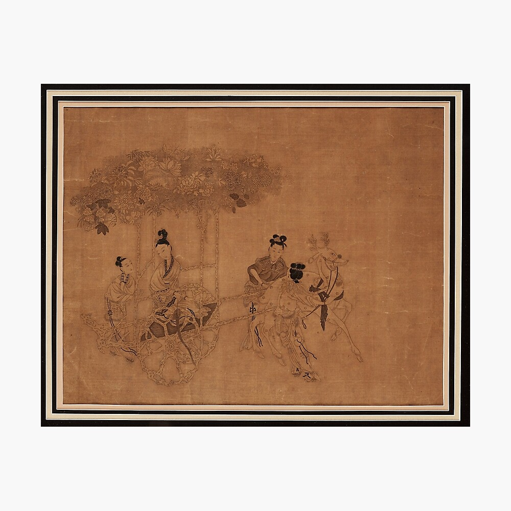 XI WANG MU TRAVELLING IN A CARRIAGE, IN THE STYLE OF GAI QI , QING DYNASTY, 19TH CENTURY, Photographic Print