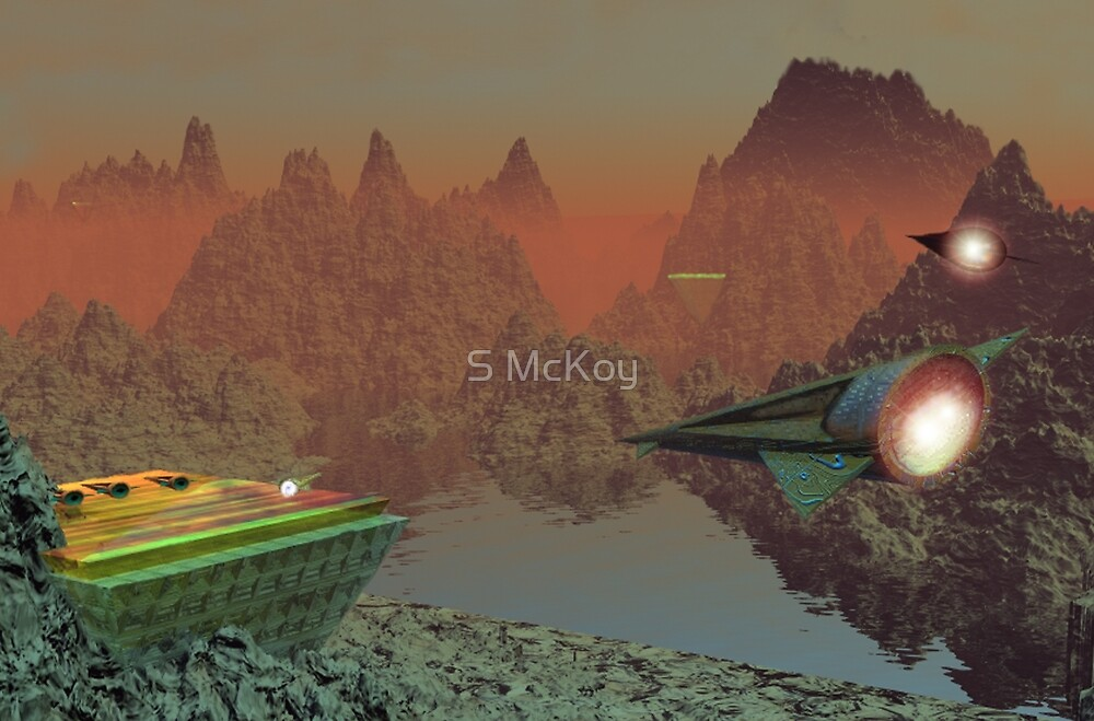 Commuter Flights on Talus 5 by S McKoy