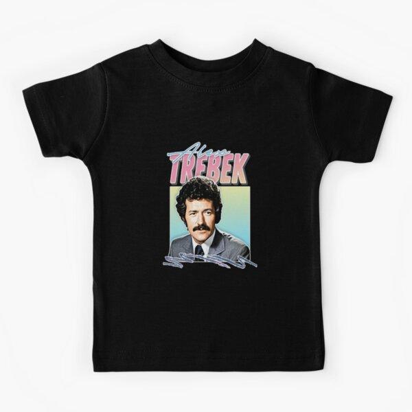 Alex Trebek _ Retro Vintage Aesthetic Fan Design Kids T-Shirt