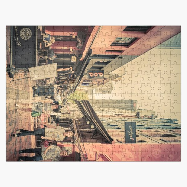 Hardware Lane, Melbourne Australia  (digital painting) Jigsaw Puzzle