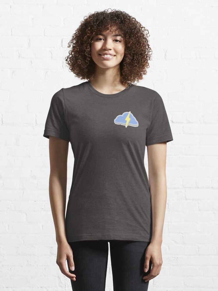 Alternate view of Rainstorm - Learning Unlimited Cloud Essential T-Shirt