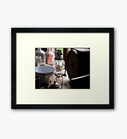 Old Wares Framed Print