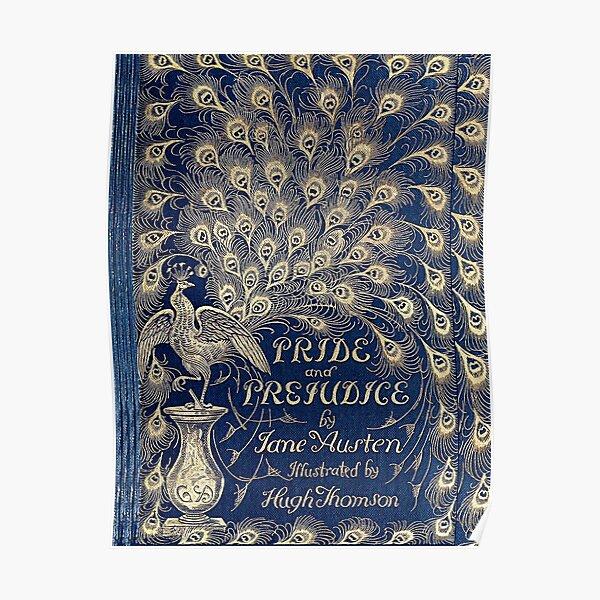 Orgullo y prejuicio Peacock Edition Portada del libro Póster