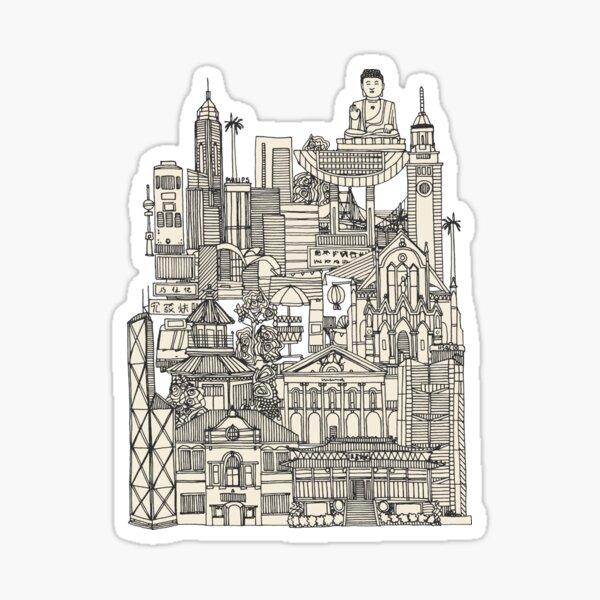 Hong Kong toile de jouy mint Sticker