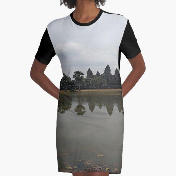 angkor wat in cambodia Design Graphic T-Shirt Dress