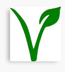 Vegetarian Symbol Canvas Print