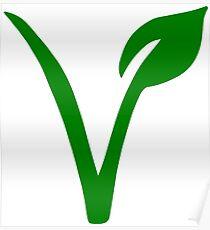 Vegetarian Symbol Poster