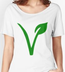 Vegetarian Symbol Women's Relaxed Fit T-Shirt