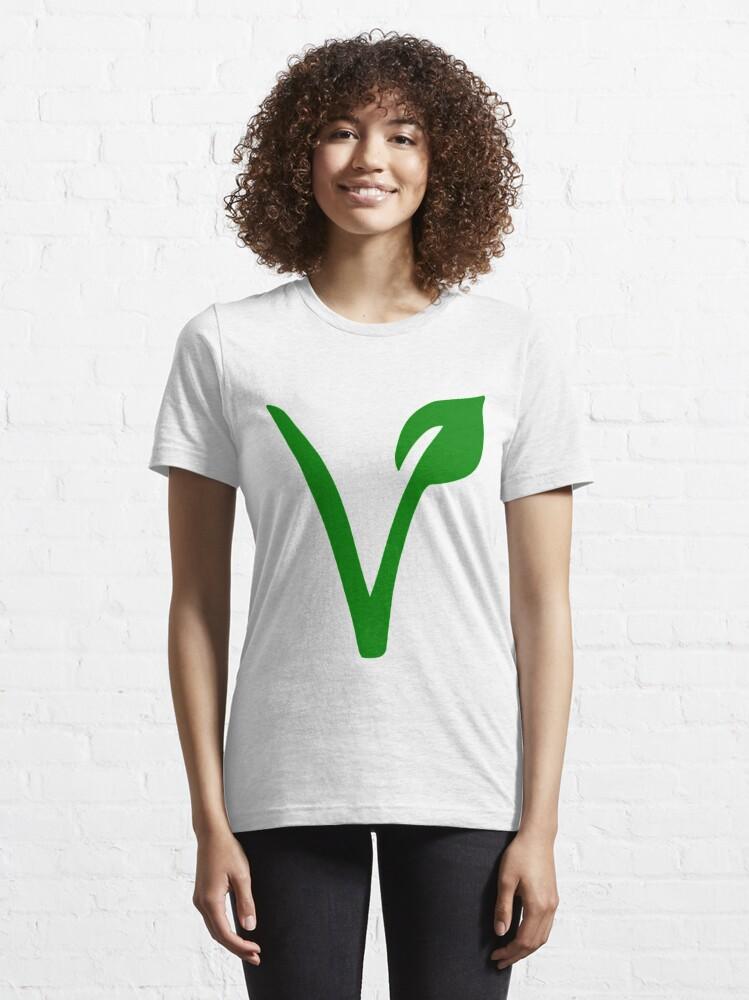 Alternate view of Vegetarian Symbol Essential T-Shirt