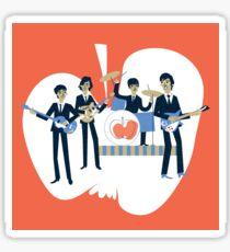 Sixties Style rock band playing music. Sticker