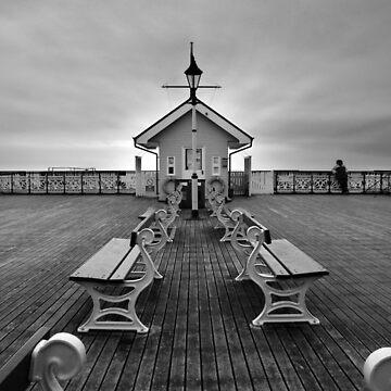 Penarth Pier, Wales (mono) von Andrew-Hocking