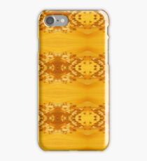 Golden Hibiscus Abstract Pattern iPhone Case/Skin