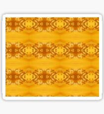 Golden Hibiscus Abstract Pattern Sticker