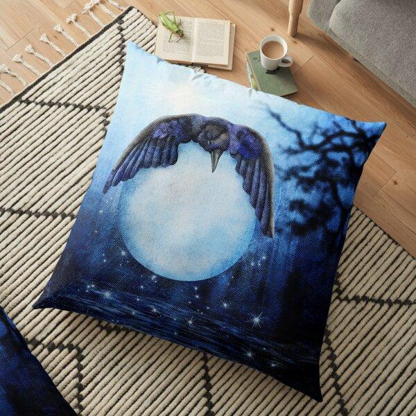 Raven steals the Moon - Solstice Floor Pillow