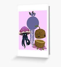 Inhabitant spirit - glitch videogame Greeting Card