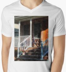 Bicycle on Porch Mens V-Neck T-Shirt