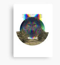 Wolf Hologram  Canvas Print