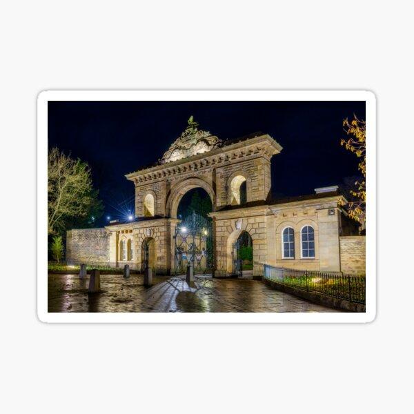 Main Enterance to Corporation Park, Blackburn, Lancashire Sticker