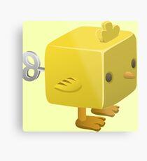 Cubimal chicken - glitch videogame Metal Print
