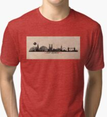London skyline city  Tri-blend T-Shirt